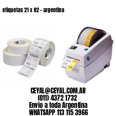 etiquetas 21 x 82 - argentina