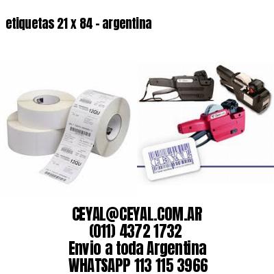etiquetas 21 x 84 - argentina