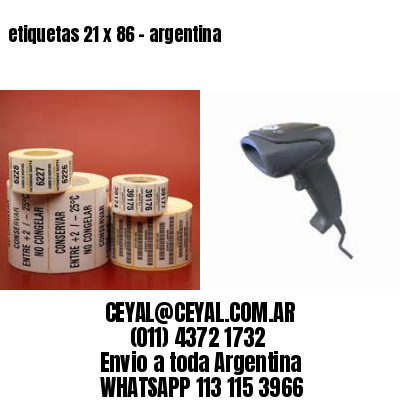 etiquetas 21 x 86 - argentina