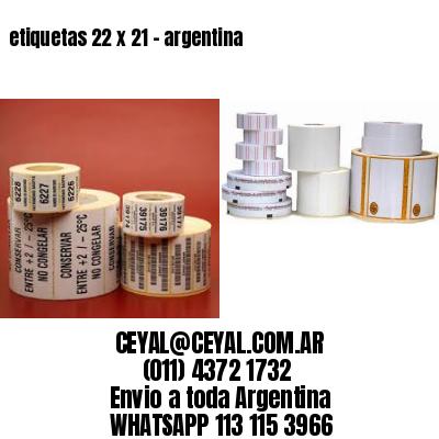 etiquetas 22 x 21 - argentina