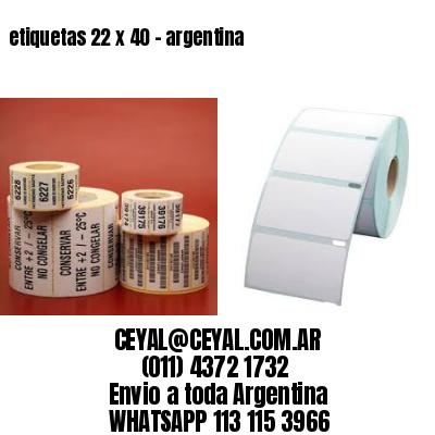 etiquetas 22 x 40 - argentina