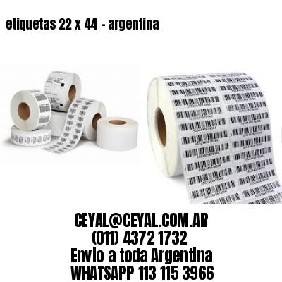 etiquetas 22 x 44 - argentina