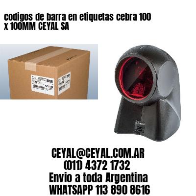 codigos de barra en etiquetas cebra 100 x 100MM CEYAL SA