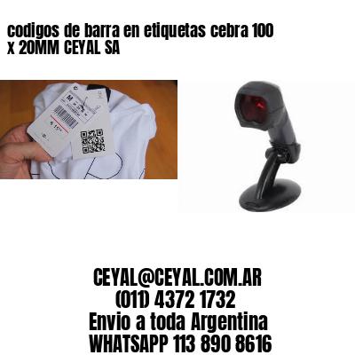 codigos de barra en etiquetas cebra 100 x 20MM CEYAL SA