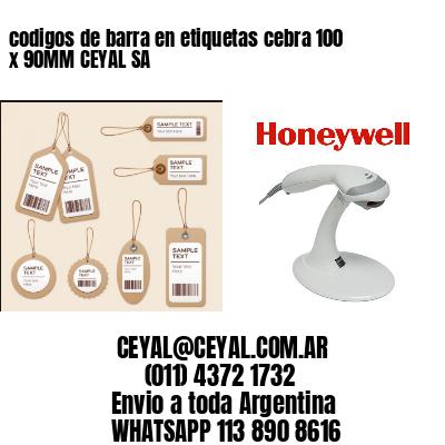 codigos de barra en etiquetas cebra 100 x 90MM CEYAL SA