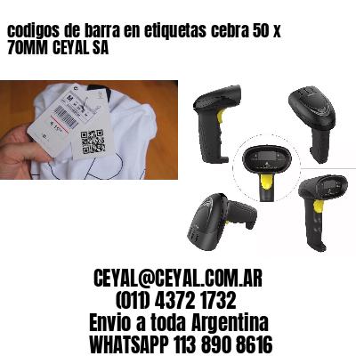 codigos de barra en etiquetas cebra 50 x 70MM CEYAL SA