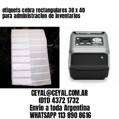 etiquets cebra rectangulares 30 x 40 para administracion de inventarios