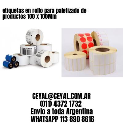 etiquetas en rollo para paletizado de productos 100 x 100Mm