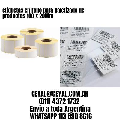 etiquetas en rollo para paletizado de productos 100 x 20Mm