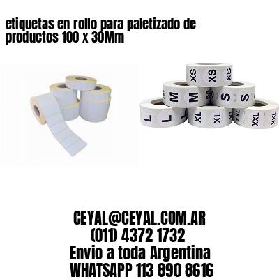 etiquetas en rollo para paletizado de productos 100 x 30Mm