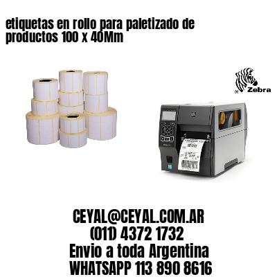 etiquetas en rollo para paletizado de productos 100 x 40Mm