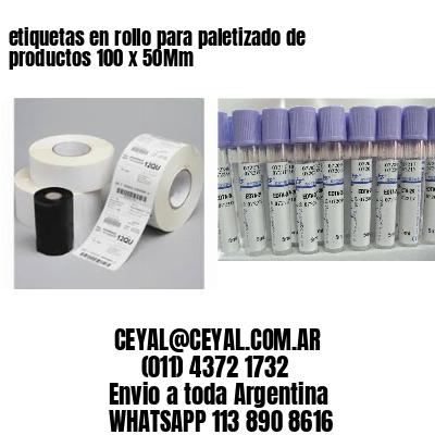 etiquetas en rollo para paletizado de productos 100 x 50Mm