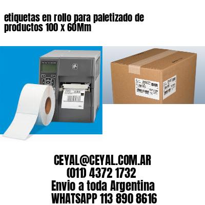 etiquetas en rollo para paletizado de productos 100 x 60Mm