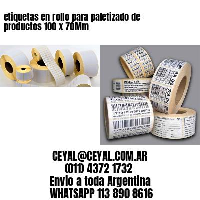 etiquetas en rollo para paletizado de productos 100 x 70Mm