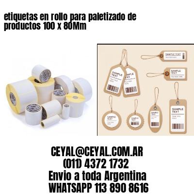 etiquetas en rollo para paletizado de productos 100 x 80Mm