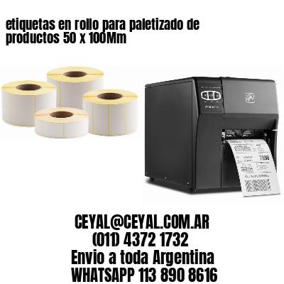 etiquetas en rollo para paletizado de productos 50 x 100Mm
