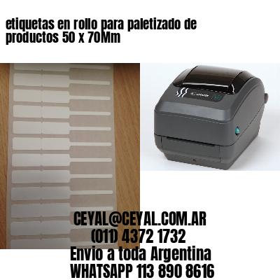 etiquetas en rollo para paletizado de productos 50 x 70Mm