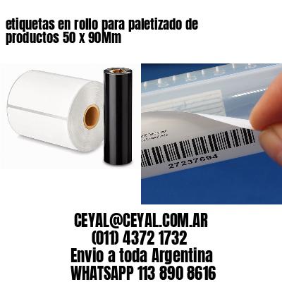 etiquetas en rollo para paletizado de productos 50 x 90Mm