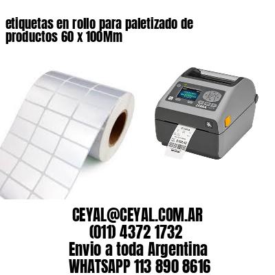 etiquetas en rollo para paletizado de productos 60 x 100Mm