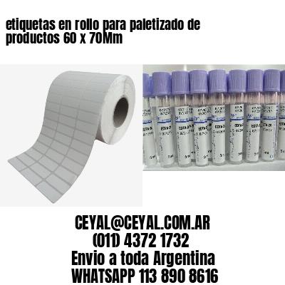 etiquetas en rollo para paletizado de productos 60 x 70Mm