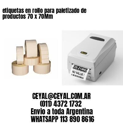etiquetas en rollo para paletizado de productos 70 x 70Mm