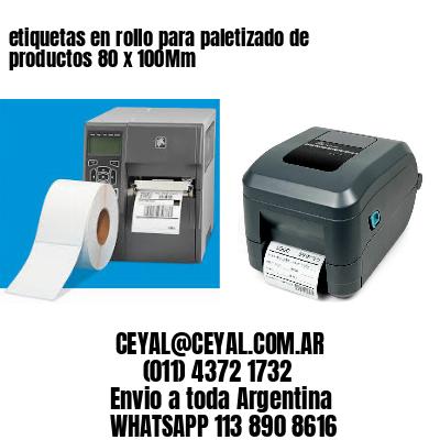 etiquetas en rollo para paletizado de productos 80 x 100Mm