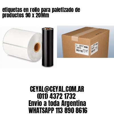 etiquetas en rollo para paletizado de productos 90 x 20Mm