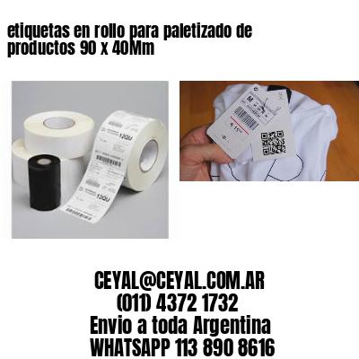 etiquetas en rollo para paletizado de productos 90 x 40Mm