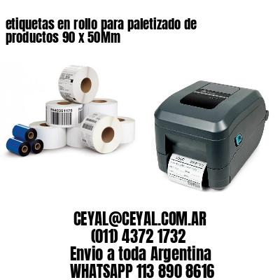 etiquetas en rollo para paletizado de productos 90 x 50Mm