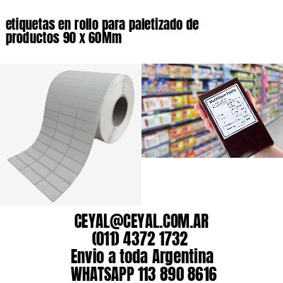 etiquetas en rollo para paletizado de productos 90 x 60Mm