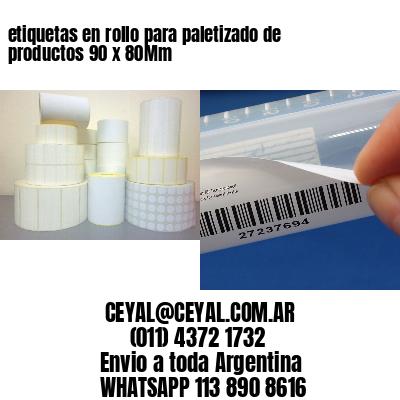 etiquetas en rollo para paletizado de productos 90 x 80Mm