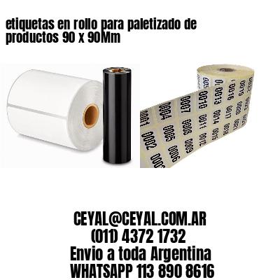 etiquetas en rollo para paletizado de productos 90 x 90Mm