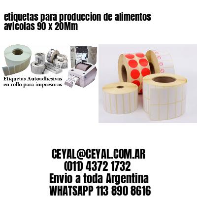 etiquetas para produccion de alimentos avicolas 90 x 20Mm