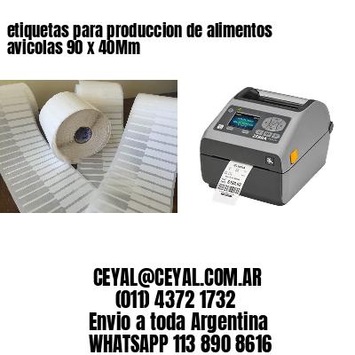 etiquetas para produccion de alimentos avicolas 90 x 40Mm