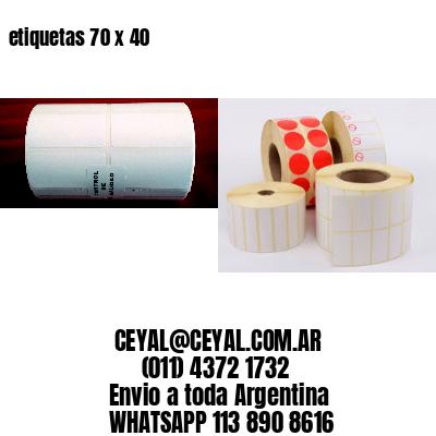 etiquetas 70 x 40