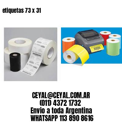etiquetas 73 x 31