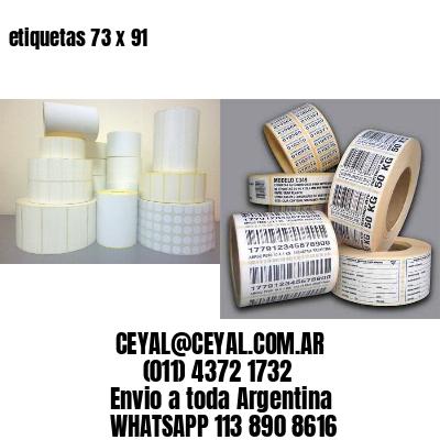 etiquetas 73 x 91