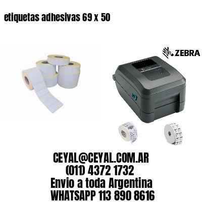 etiquetas adhesivas 69 x 50