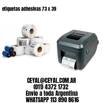 etiquetas adhesivas 73 x 39