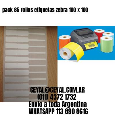 pack 85 rollos etiquetas zebra 100 x 100