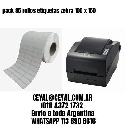 pack 85 rollos etiquetas zebra 100 x 150
