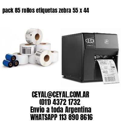 pack 85 rollos etiquetas zebra 55 x 44