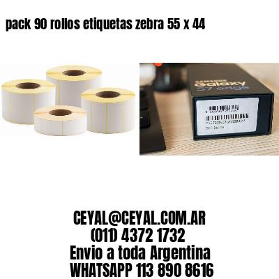 pack 90 rollos etiquetas zebra 55 x 44