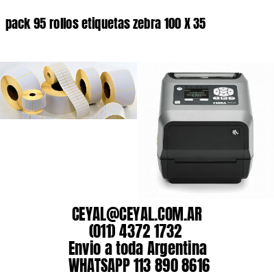 pack 95 rollos etiquetas zebra 100 X 35