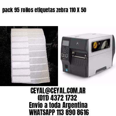 pack 95 rollos etiquetas zebra 110 X 50