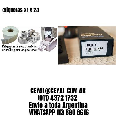 etiquetas 21 x 24