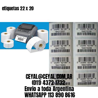 etiquetas 22 x 20