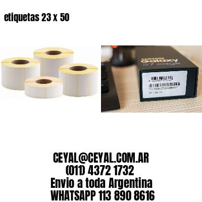 etiquetas 23 x 50