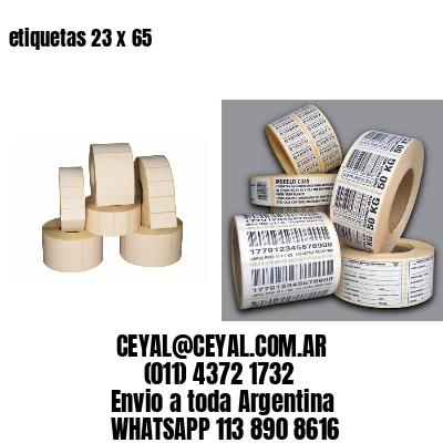etiquetas 23 x 65