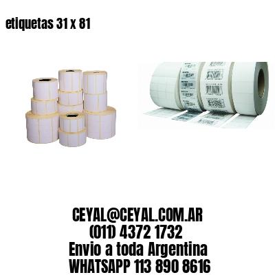 etiquetas 31 x 81